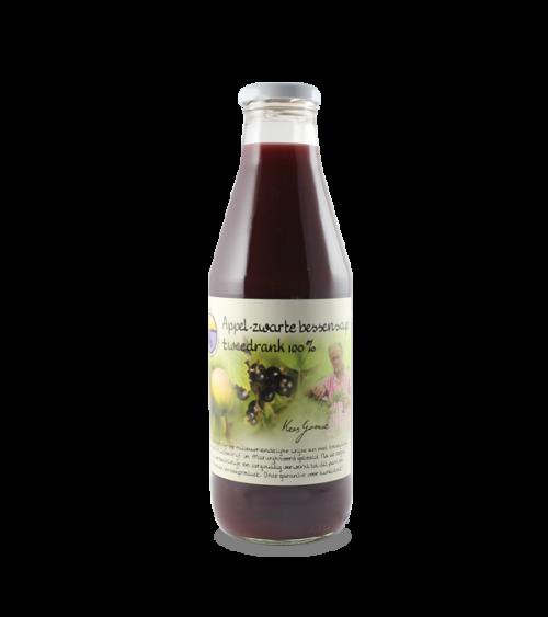 Appel-zwarte bessensap tweedrank 100% (750 ml.)