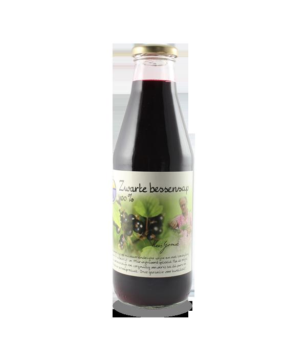 Zwarte bessensap 100% (750 ml.)